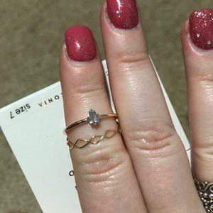 Lauren Conrad Gold Rings Set of 2 Size 7